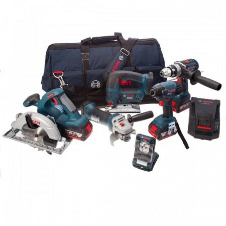 Bosch 6-delers 18V batteriverkt�ysett (2 x 4Ah batt)