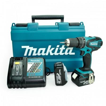 Sjekk prisen! Makita DHP456RFE slagbormaskin 18V (2x3Ah batt)