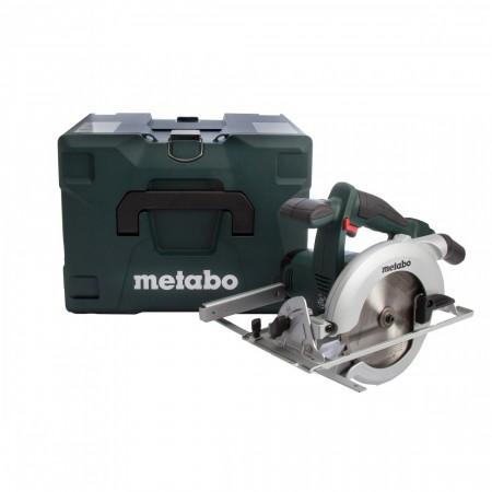 Metabo KSA18LTX 18V batteridrevet li-ion sirkelsag (kun kropp) med Metaloc box transport koffert