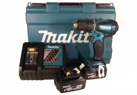 Sjekk prisen! Makita DDF456RFE 18V skrudrillsett (2 x 4Ah)