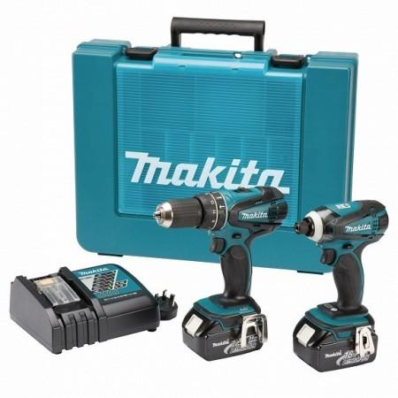 Sjekk prisen! Makita DK1862X 18V drillsett ( 2x3Ah batt)