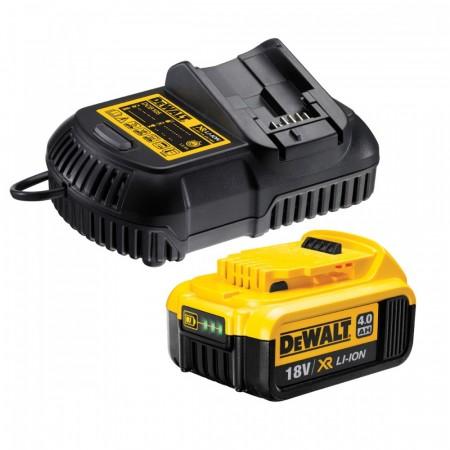 Dewalt DCB182 18V XR Li-ion 4.0Ah batteri med DCB105 hutiglader