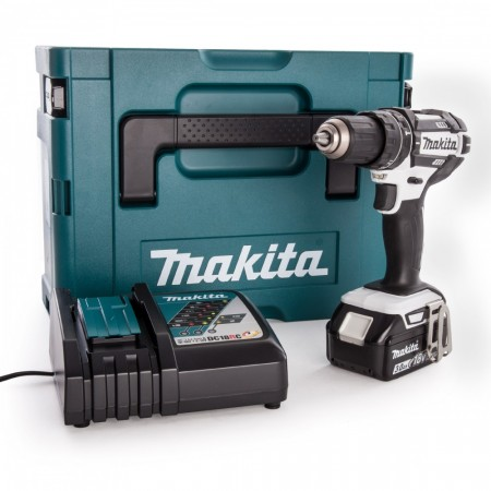 Makita DHP482RFWJ-1 18V Combi drillsett (1 x 3.0Ah batterier)