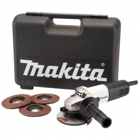 Sjekk prisen! Makita 9554NBKD 115mm Vinkelsliper(hvit/sort utgave)