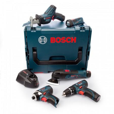 Bosch 108GSBGDRFIVE 10.8V 5-delers batteridrevet sett(3 x 2.0Ah batterier)