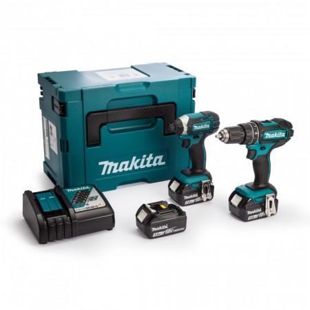 Sjekk prisen! Makita DLX2131JX1 18V 2-delers batteriverktøysett DHP482 + DTD152(3 x 3.0Ah batterier)