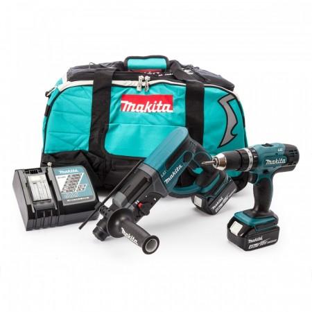 Makita DLX2025M 18V 2-delers batteriverktøysett (2 x 4.0Ah batterier)