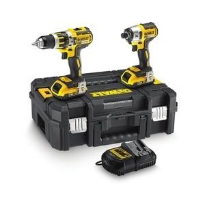 UNIK PRIS! Dewalt DCK259D2T 18V XR Li-ion børsteløs combi drill og slagtrekker Twinpack (2 x 2.0Ah batterier)