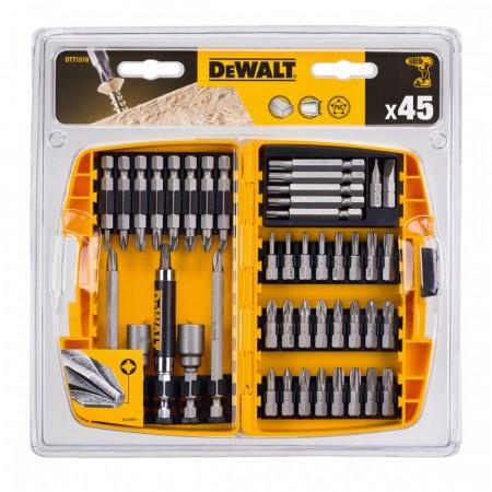 Dewalt DT71518 45-delers bits- og skrutilbehørsett i praktisk etui