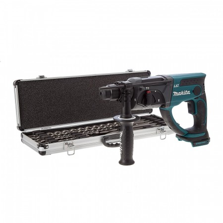 Makita DHR202Z 18V SDS+ borhammer +10-delers SDS+ borsett