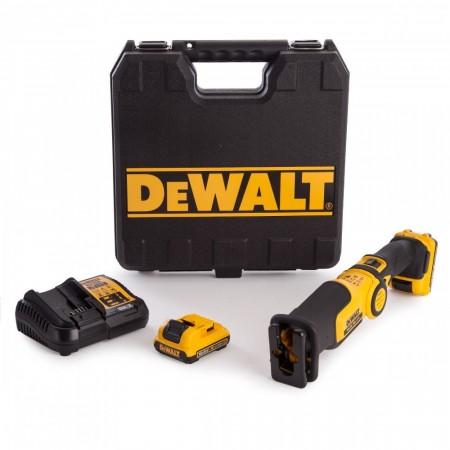 Sjekk prisen! Dewalt DCS310D2 10,8V batteridrevet kompakt bajonettsag (2 x 2,0 Ah)