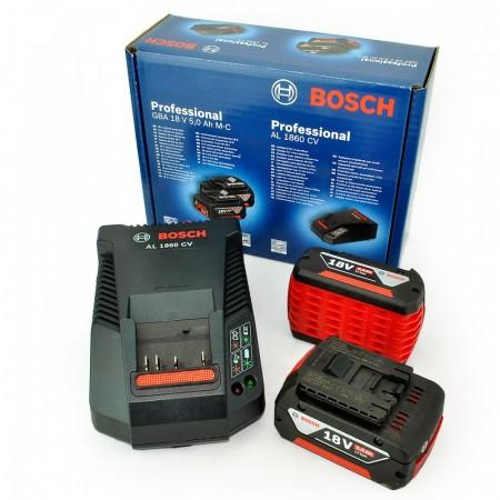 Sjekk prisen! Bosch GBA185SET - 2 x 5Ah Coolpack batterier + AL 1860 lader