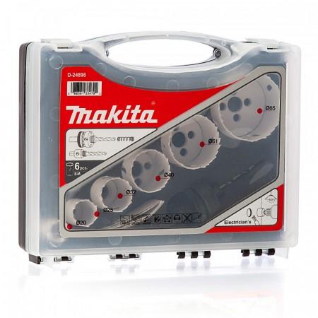 Makita D-24898 6-delers Bi-Metal elektriker hullsag sett