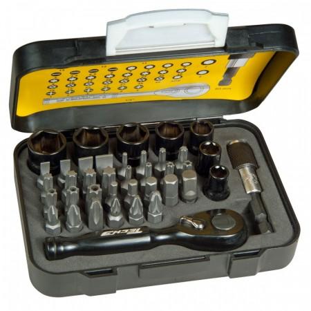 """Stanley STHT9-13906 Tech3 Metric 39-delers  pipe- og bitssett 1/4 """""""