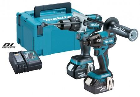 NYTT! Makita DLX2040TJ 18V b�rstel�s duel drillsett (2 x 5ah batterier)
