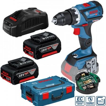 Sjekk prisen! Bosch GSR 18V-60 C skru drillsett (2x5Ah batterier)