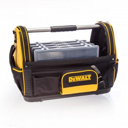 """Dewalt 1-79-208 åpen verktøy bag 18"""" med 4 gratis Stanley 1-92-761 14-kammer oppbevaringsbokser"""