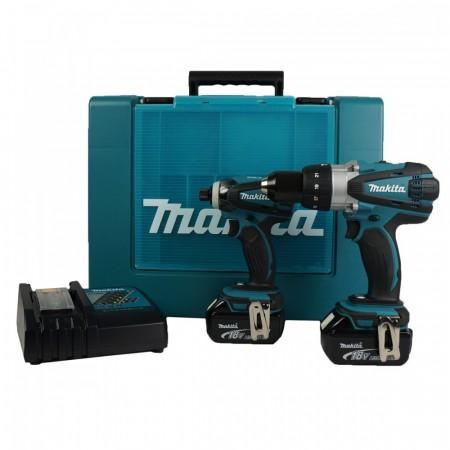 NYTT! Makita DLX2005M 18V duel drillsett (2 x 4Ah batt)