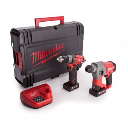 Milwaukee M12CPP2B-602X 2-delers batteriverktøy sett (2 x 6,0 Ah batterier)