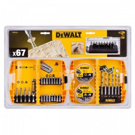 Dewalt DT71515 67-delers bor & tilbehør sett i 2 robuste etuier - XMS14MIXSET