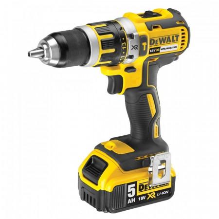 Dewalt DCD795P2 børsteløs combi drill med slagfunksjon (2 x 5ah batterier)