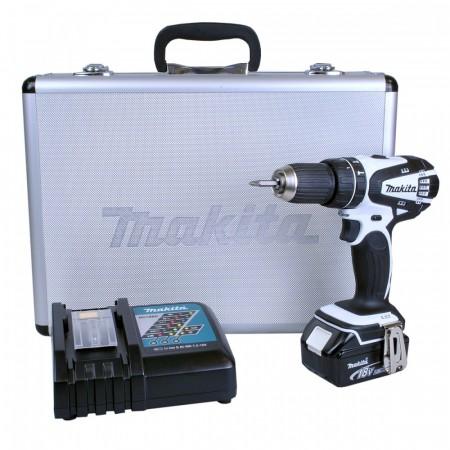Sjekk prisen! Makita DHP456RMWX 18V drillsett (1 x 4Ah batt)