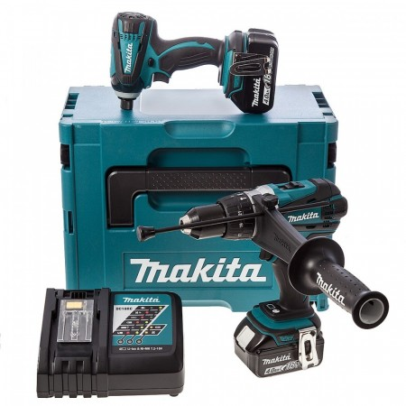 Makita DLX2005MJ 18V 2-delers combi kit (2 x 4Ah batterier) i MakPac koffert