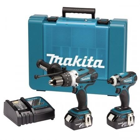 Makita DK18000 18V 2-delers combi drillset (BHP458 & BTD146)