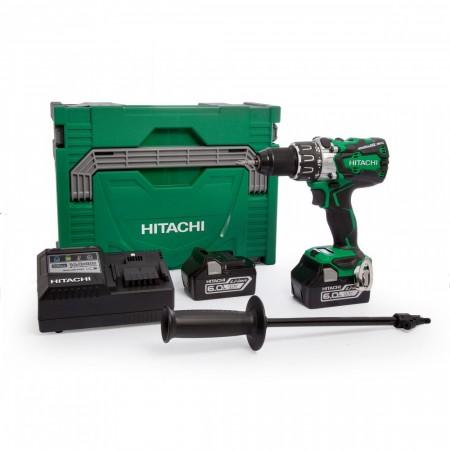 Kraftpakke! Hitachi DV18DBXL 18V Børsteløs combi drillsett (2 x 6.0Ah batterier)