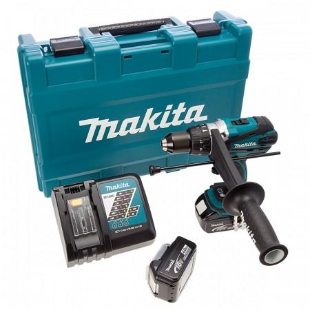Sjekk prisen! Makita DHP458RME 18V drillsett (2x4Ah batt)