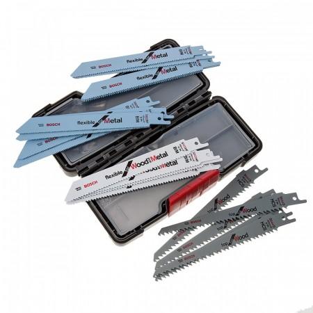 Bosch 2607010902 20stk bajonettsagblader  for trevirke og metall i praktisk etui
