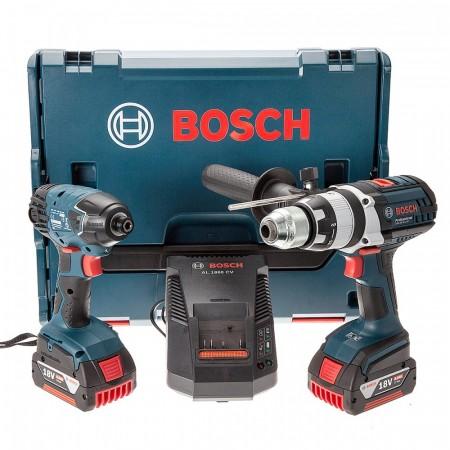 Bosch RSGSBGDR18-LI Robust TwinPack med GSB18VE2-LI og GDR18V-LI (2 x 4Ah batterier i L-Boxx)