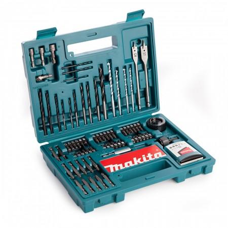 Makita B-53811 100-delers bits,bor og skrutrekker tilbørsett