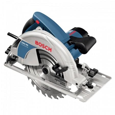 """Bosch GKS85 9"""" / 225mm håndholdt sirkelsag 230V (2blader inkludert)"""