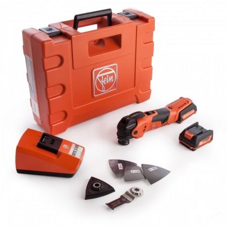 Sjekk prisen! Fein AFMT12QSL batteridrevet QuickStart MultiMaster med mye tilbeh