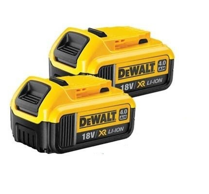 DEWALT DCB182 18v 4.0Ah Li-Ion-batteri XR Range Lithium Ion TWINPACK