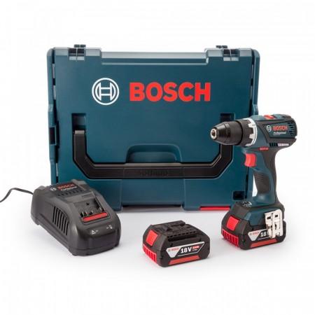 Bosch GSR18VEC 18V børsteløs drillsett (2 x 5Ah batterier)