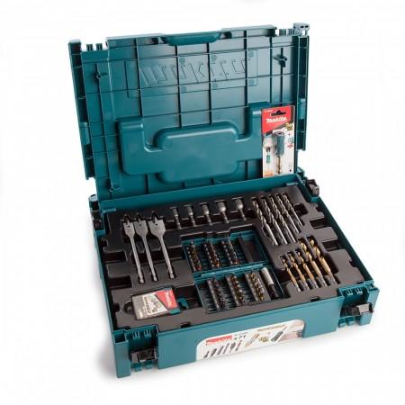 Makita B-51699 71-delers bit og tilbehørsett levert i Makpac system koffert