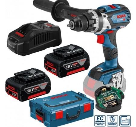 Sjekk prisen! Bosch GSR 18 V-85 C Professional skru/bor drillsett (2x5Ah batterier)
