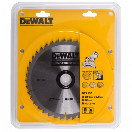 Dewalt DT1155 sagblad (216x30mm) 40 Tenner