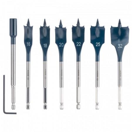 Bosch 2608587009 7-delers spadeborsett for kjappe og effektive hull