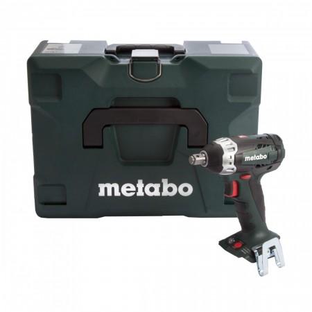 Metabo SSW18LTX200 18 V batteridrevet Lithium Ion muttertrekker(kun kropp) komplett med Metaloc transport koffert