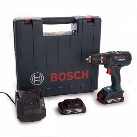Sjekk prisen! Bosch GSB 18-2-LI Plus Professional combi drillsett (2 X 1,5 Ah batterier)