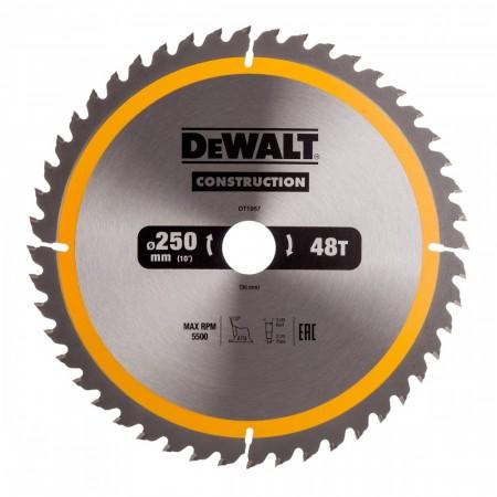 Dewalt DT1957 Carbide konstruksjon sirkelsagblad 250mm x 30mm x 48T