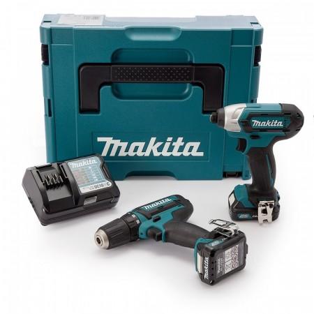 Makita CLX201AJ 2-delers 10,8V batterisett Kit (2 x 2.0Ah batterier)