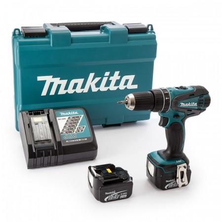 Makita DHP446RFE 14,4 V Combi drillsett (2 x 3.0Ah batterier)