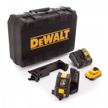 Dewalt DCE088D1G 10.8V Selvling linje- og krysslaser med grønn laser (1 x 2.0Ah batteri)