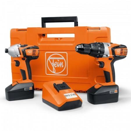 Fein ASB18 / ASCD18W4 18V  Combi Drill + Slagtrekker (2 x 4AH batterier)