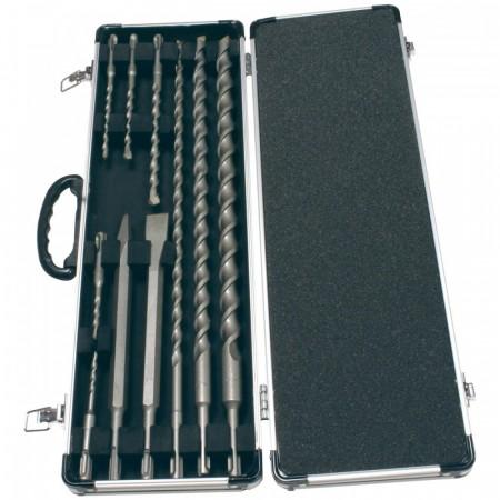 Makita SDS-plus 10-delers sett i praktisk alu-koffert