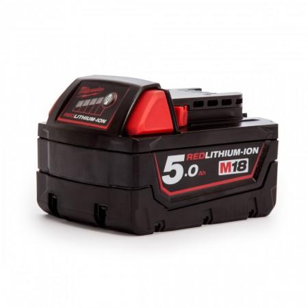 Sjekk prisen! Milwaukee M18 18V Lithium-Ion 5Ah batteri